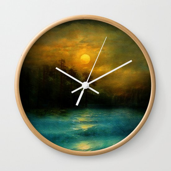 Hope, in the turquoise water. Wall Clock