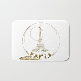 Golden Paris . Eiffel tower . Art Bath Mat