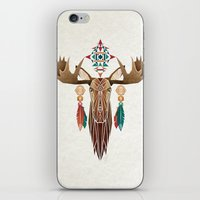 moose iPhone & iPod Skins featuring moose by Manoou