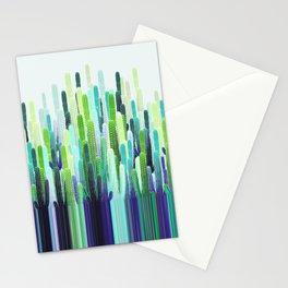 Cacti Stripe Stationery Cards