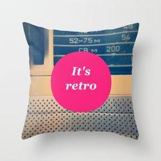 It's retro! Throw Pillow