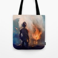 how to train your dragon Tote Bags featuring how to train your dragon 2 by AkiMao