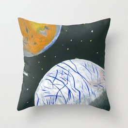 Europa and Io Throw Pillow