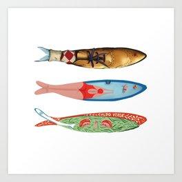 sardinhas 6 Art Print