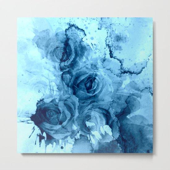 roses underwater Metal Print