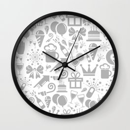 Holiday a background Wall Clock