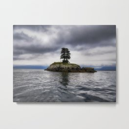 Twin Trees on an Island - Resurrection Bay, Alaska Metal Print