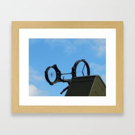 Military cars, equipment, retro items and elements Framed Art Print