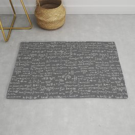 Math Equations // Charcoal Rug
