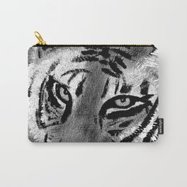 Tiger with White Background Carry-All Pouch