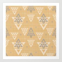 Tribal Yellow #society6 Art Print