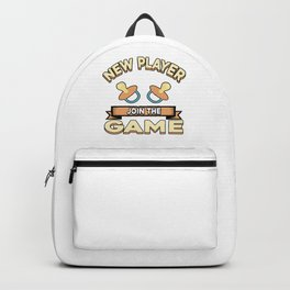 Baby gamer pregnant pregnancy kids born parents gift idea Backpack