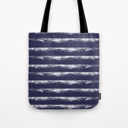 Irregular Stripes Dark Blue Tote Bag