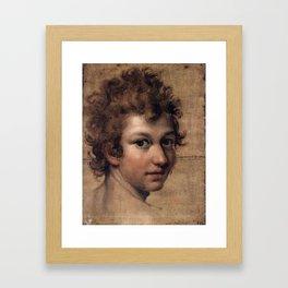 Head of a Youth Lavinia Fontana - 1606 Framed Art Print