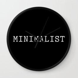 Black and White Minimalist Typewriter Font Wall Clock