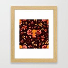 Bold Aries flower pattern Framed Art Print