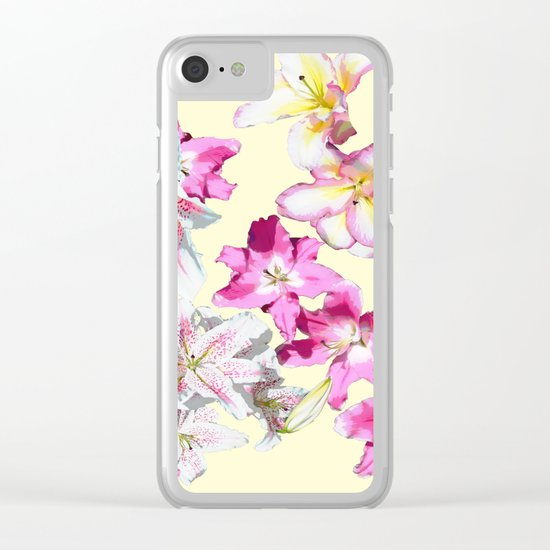 lily love on primrose Clear iPhone Case