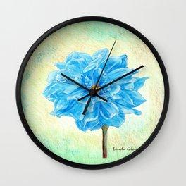 The Blue Dahlia Wall Clock