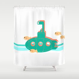 Little Sub Shower Curtain