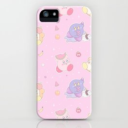 Kirby Kawaii Summer Fruit Party iPhone Case