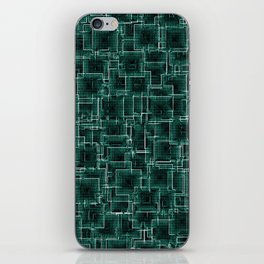 The Maze - Teal iPhone Skin