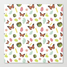 butterflies and plaid Canvas Print