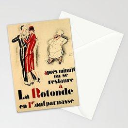 Advertisement apres minuit on se restaure a la Stationery Cards