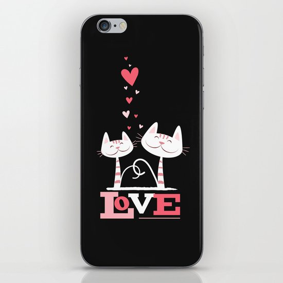 2 Cats in Love iPhone & iPod Skin