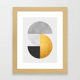 Golden Geometric Art VII Framed Art Print