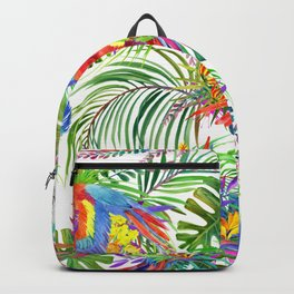 cute wild parrot Backpack