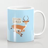 thrones Mugs featuring Prey Tell by David Olenick