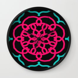 Funky Floral Wall Clock