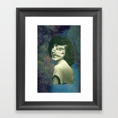 Jumble Lady Framed Art Print