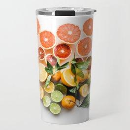 Lemon orange leaf Travel Mug