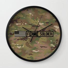 Future Soldier (Camo) Wall Clock