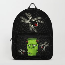Frankenstein Ugly Portrait and Spiders Backpack