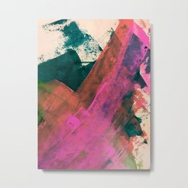 Expand [2]: a colorful, minimal abstract piece in pinks, green, and blue Metal Print