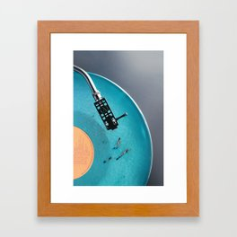 Vinyl in VR Framed Art Print