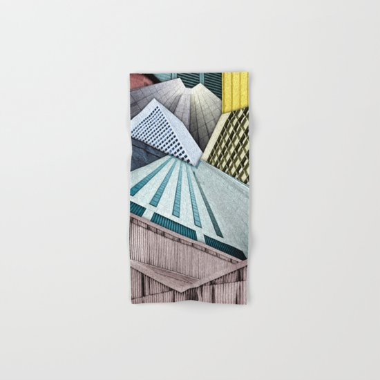 Angles of City Structures Hand & Bath Towel
