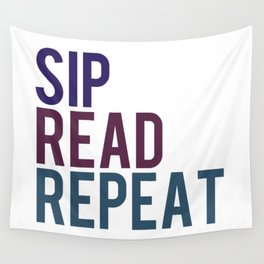 Sip, Read, Repeat Wall Tapestry