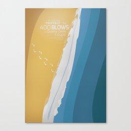 The 400 Blows, les Quatre cents coups, François Truffaut, minimalist movie poster, Jean-Pierre Léaud Canvas Print
