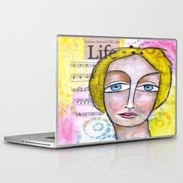 Life with Yellow Hair Laptop & iPad Skin