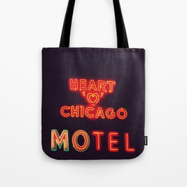 Heart 'O' Chicago Motel (Night) ~ vintage neon sign Tote Bag