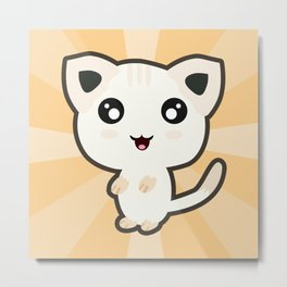 Kawaii Cat Metal Print