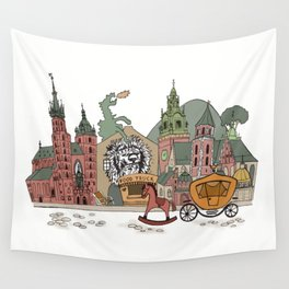 Old Europe. Krakow Wall Tapestry