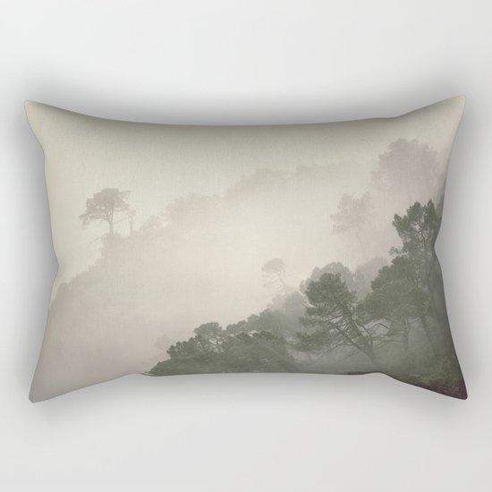 """""""Mountain light II"""". Foggy forest. Rectangular Pillow"""