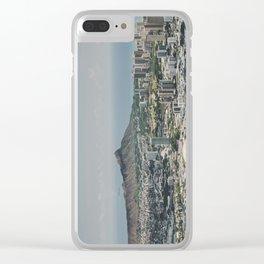 Diamond Head Town - Hawaii Clear iPhone Case