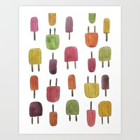 Popsicle Print Art Print