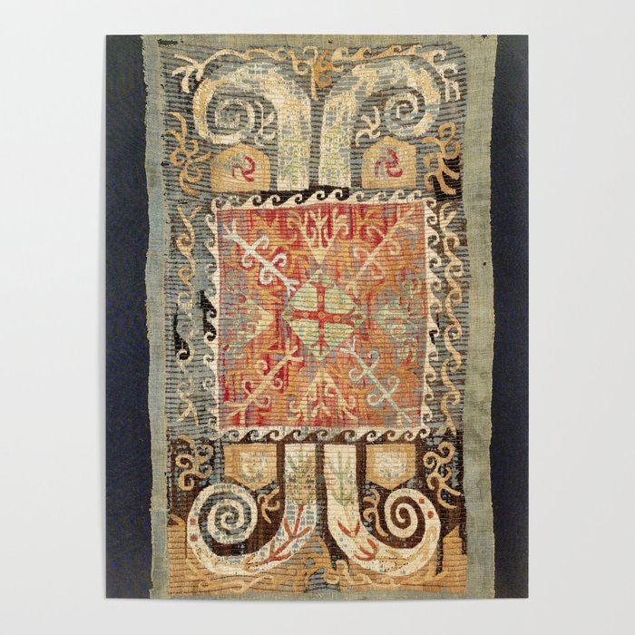 Kaitag 18th Century Caucasian Embroidery Print Poster