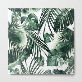 Tropical Jungle Leaves Dream #7 #tropical #decor #art #society6 Metal Print